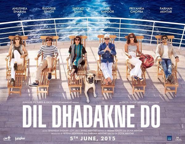 Dil Dhadakne Do poster: Priyanka Chopra, Ranveer Singh, Anushka Sharma chill on the cruise!