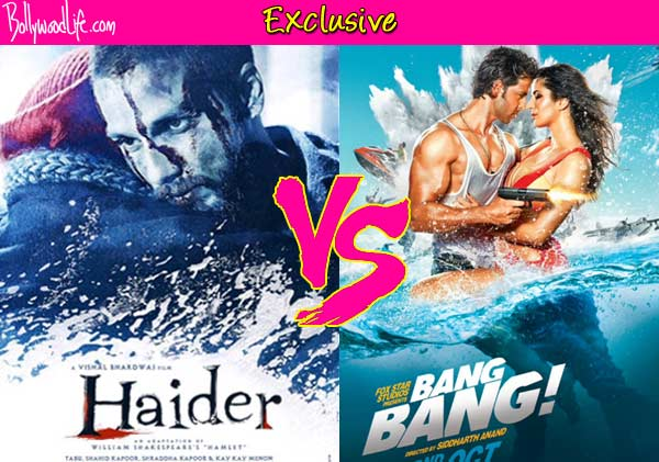 Shahid Kapoor's Haider or Hrithik Roshan's Bang Bang-which one will you watch?