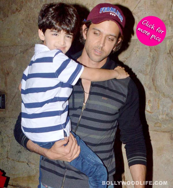Hrithik Roshan spotted with sons at a theatre-view pics!