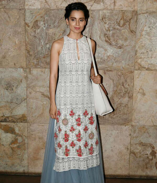 Kangana Ranaut walks for Anju Modi at couture week