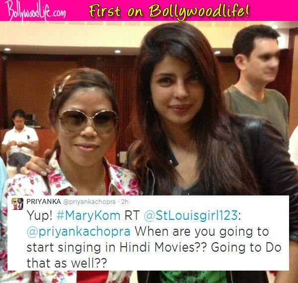Priyanka Chopra to croon for Mary Kom!