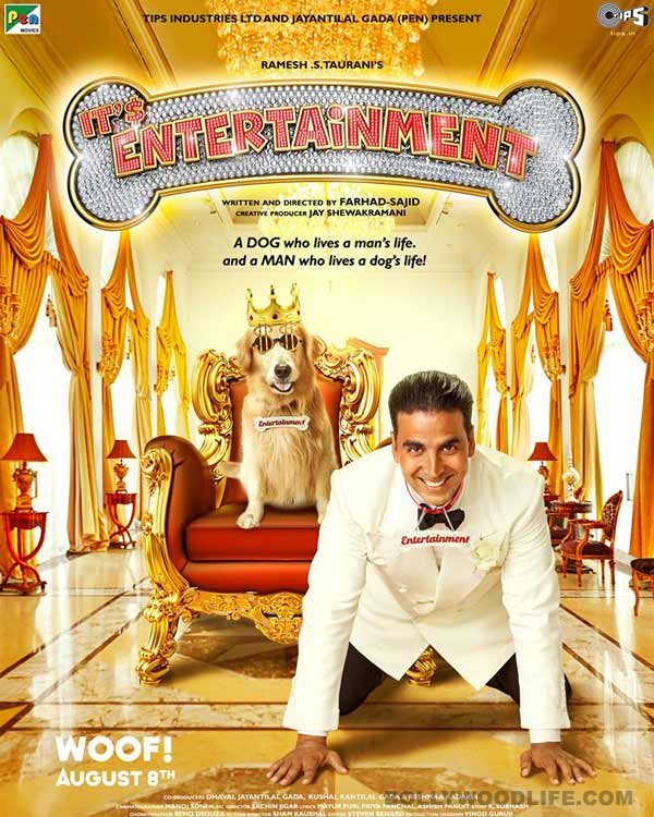 Canine's name to appear before Akshay Kumar in opening credits of Entertainment