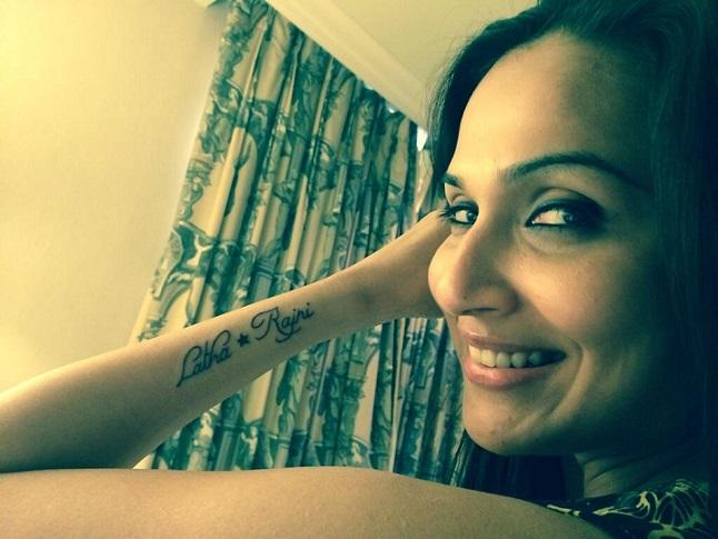 Soundarya Rajinikanth gets a Rajinikanth tattoo!
