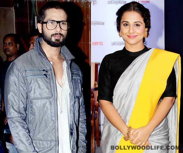 Vidya Balan not upset with Shahid Kapoor for moving into her building