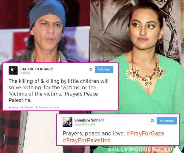 Shah Rukh Khan, Sonakshi Sinha, Arjun Kapoor pray for peace in Gaza