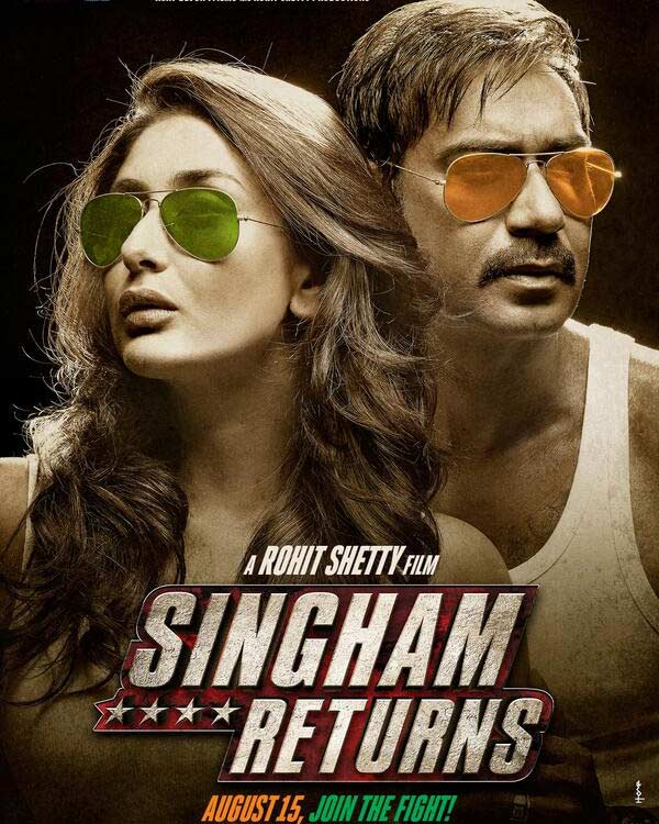 Kareena Kapoor pouts on the poster of Singham 2