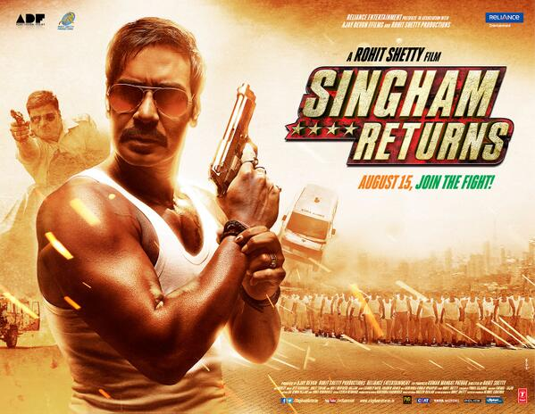Singham Returns poster first look: Pistol in hand, Ajay Devgn is back with a bang!