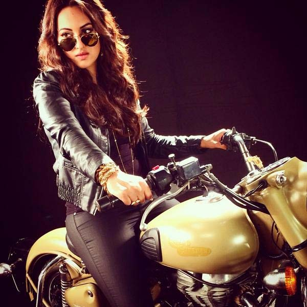 Have you seen Sonakshi Sinha on a sone ki bike? View pic!