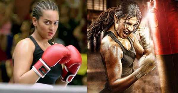 Sonakshi Sinha cheers for Priyanka Chopra's Mary Kom look on Twitter!