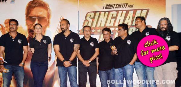 Ajay Devgn, Kareena Kapoor Khan, Rohit Shetty at Singham Returns trailer launch- View pics!