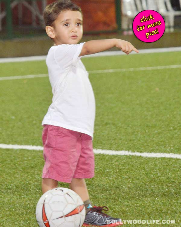 Aamir Khan's little son Azad on the football field - View pics!