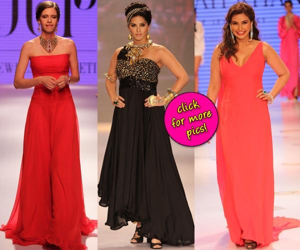 Sunny Leone, Kalki Koechlin, Lisa Ray dazzle at IIJW 2014- View pics!
