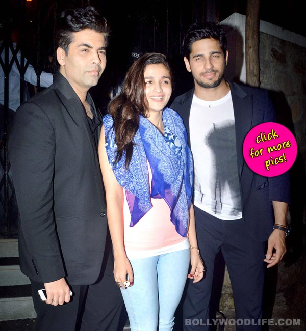 Alia Bhatt, Sidharth Malhotra and Karan Johar spotted hanging out together-view pics!