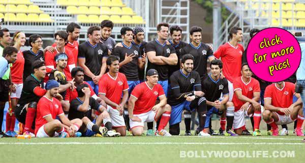 Aamir Khan, Hrithik Roshan, Abhishek Bachchan, Karan Wahi at a celebrity football match- View pics!