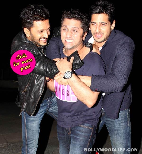 Sidharth Malhotra, Riteish Deshmukh and Mohit Suri showcase their bromance at Ek Villain's success bash!