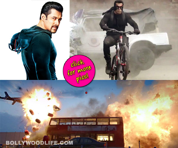 Salman Khan's Kick action shot in Rohit Shetty style?