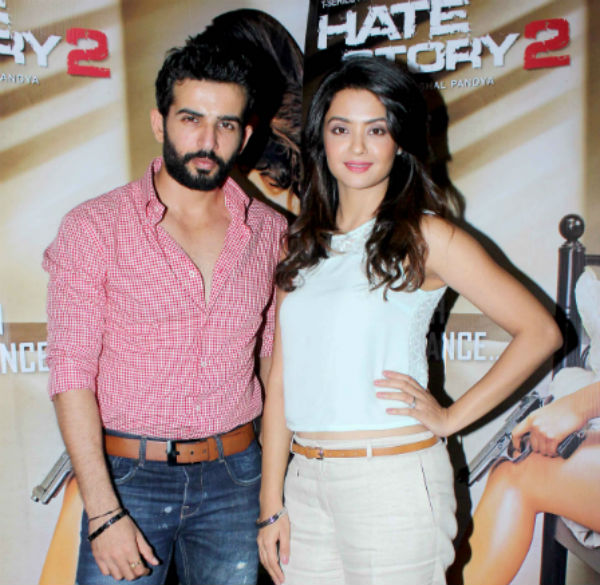 Surveen Chawla and Jay Bhanushali promote Hate Story 2- View pics!