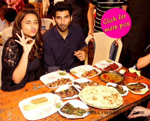 Parineeti Chopra and Aditya Roy Kapur relish a tasty meal at Mohammed Ali Road-view pics!