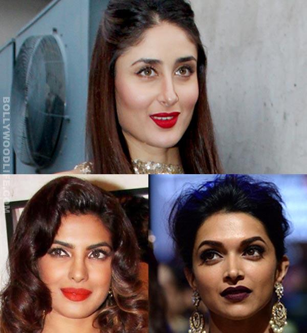 Kareena Kapoor, Deepika Padukone, Priyanka Chopra: Whose lip-colour do you like best?