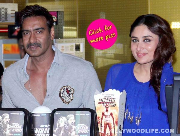 Ajay Devgn and Kareena Kapoor launch Singham Returns merchandise- View pics!