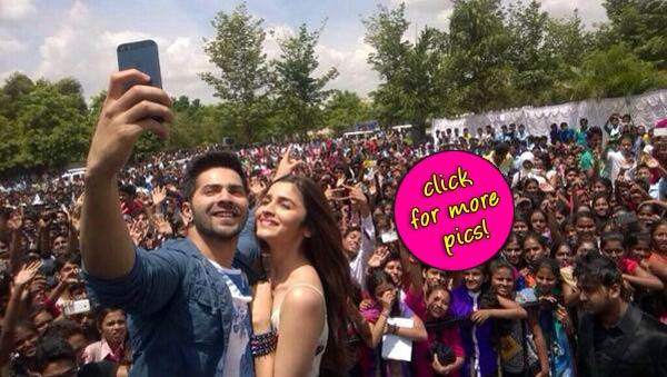 Varun Dhawan and Alia Bhatt reinvent the selfie!- View pics!