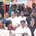 Vijay, Suriya protest outside Sri Lankan Consulate over demeaning article on Jayalalithaa!