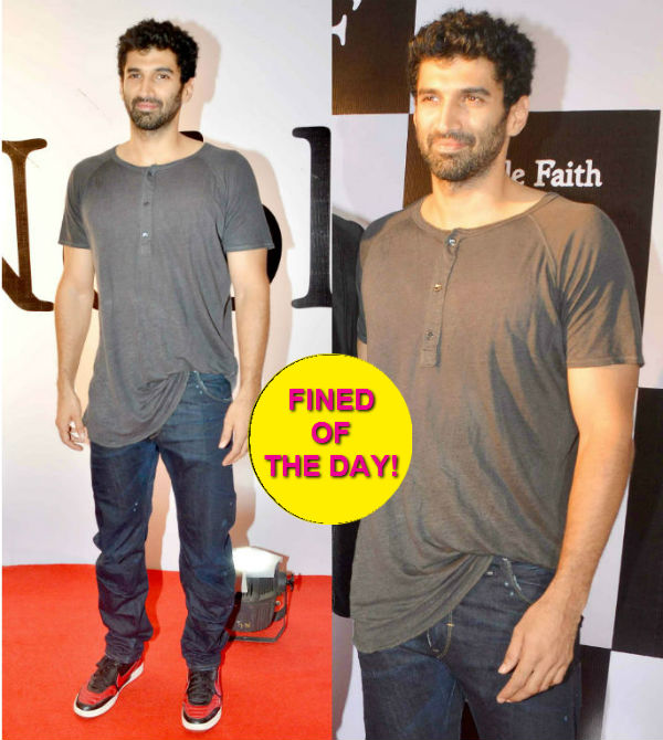 Fined of The Day: Why Aditya Roy Kapur needs to fire his stylist, if at all he has one!