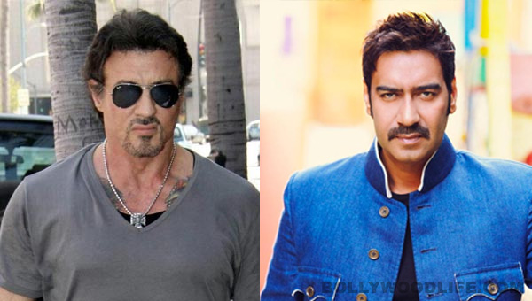 Sylvester Stallone wishes luck to Ajay Devgn!