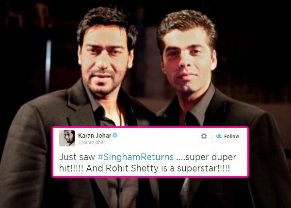 Is Karan Johar taking a sly dig at Ajay Devgn ?