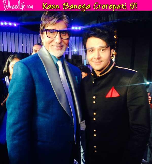 Aniruddh Dave's selfie moment with Amitabh Bachchan on Kaun Banega Crorepati 8