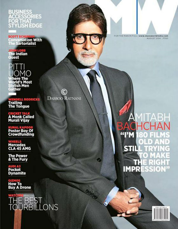 amitabh bachchan on the cover of a leading men�s magazine