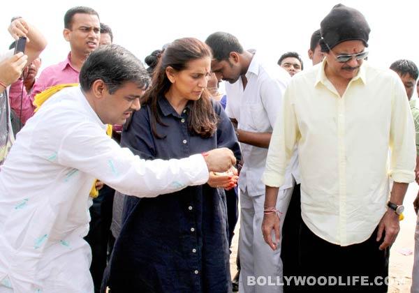Ganesh Visarjan 2014: Anil Kapoor bids goodbye to Ganpati!