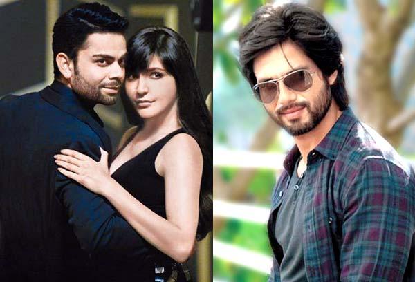 Shahid Kapoor supports Anushka Sharma cheering Virat Kohli