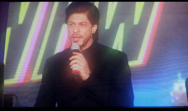 Shah Rukh Khan gets witty at Happy New Year's trailer launch, makes a funny remark on Aamir Khan's PK poster