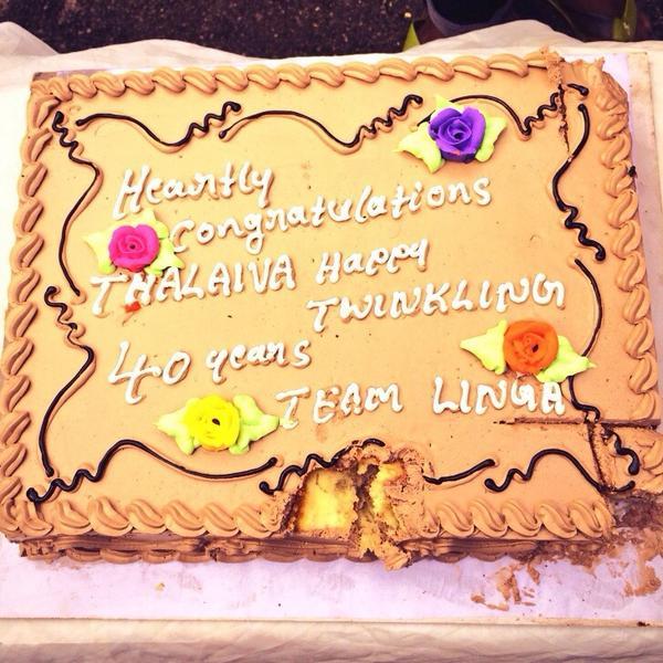 Sonakshi Sinha celebrates 40 years of Rajinikanth's career along with Lingaa team!