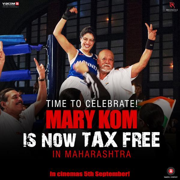 After Rani Mukerji's Mardaani, Priyanka Chopra's Mary Kom declared tax free!