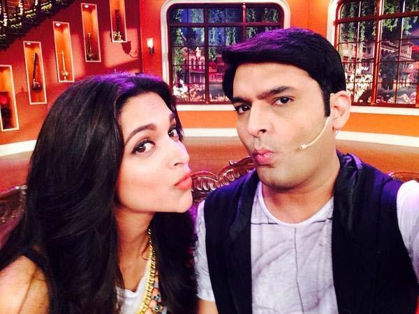 Deepika Padukone and Kapil Sharma pout together - view pic!