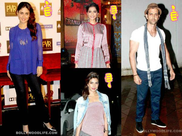 Kareena Kapoor Khan,Hrithik Roshan,Priyanka Chopra,Sonam Kapoor: This week's best and worst dressed celebs-view pics!