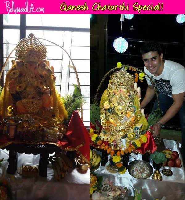 Ganesh Chaturthi 2014: Gautam Rode poses with Ganpati Bappa!