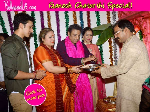 Ganesh Chaturthi 2014: Govinda celebrates Ganpati with family - View pics!