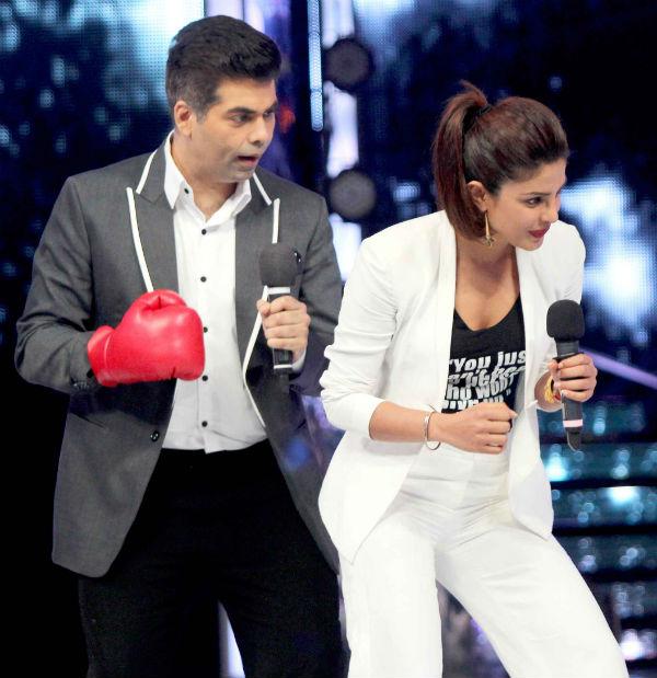 Priyanka Chopra jokes about Karan Johar punching Sanjay Leela Bhansali!