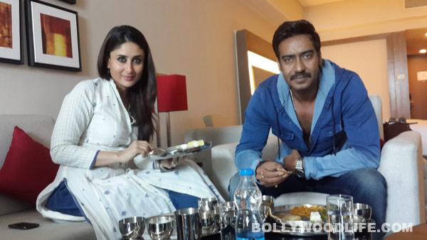Ajay Devgn and Kareena Kapoor Khan enjoy a Gujarati feast!