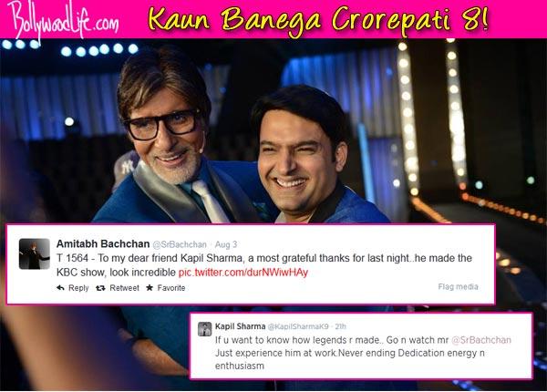 Amitabh Bachchan thanks Kapil Sharma for being on Kaun Banega Crorepati 8
