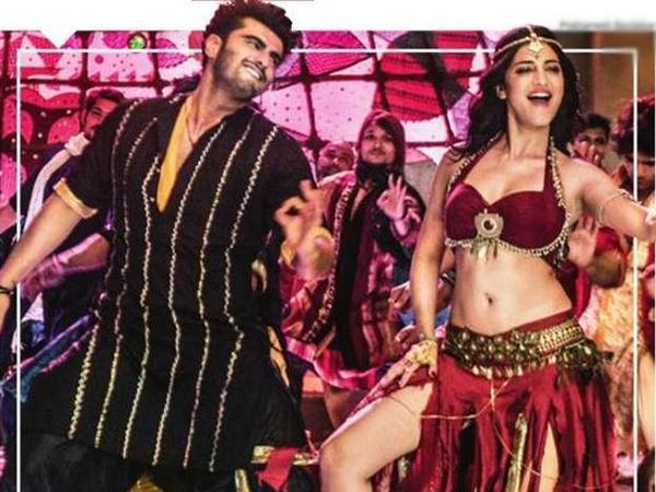 Arjun Kapoor saves Shruti Hassan from getting hurt on the sets of Tevar, full filmi style!