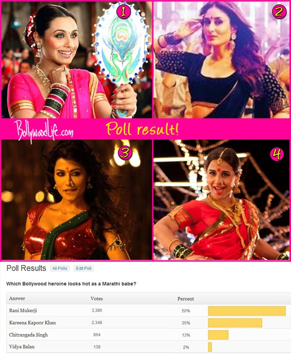 Rani Mukerji beats Kareena Kapoor to be the sexiest Marathi babe of Bollywood!