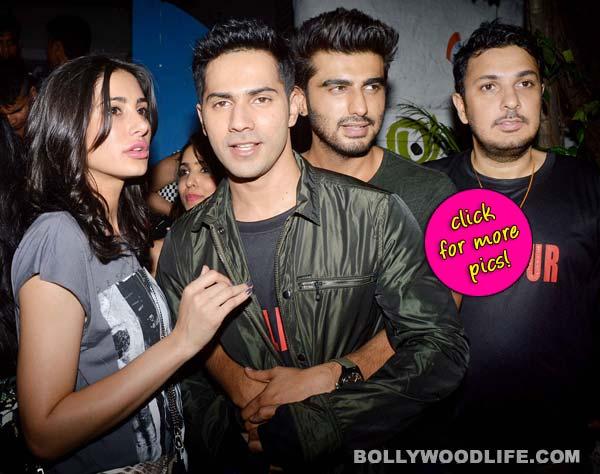 Arjun Kapoor and Varun Dhawan's bromance at Badlapur wrap up party - View pics!