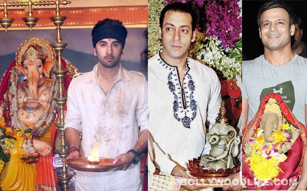 Ganesh Chaturthi special: Salman Khan, Shahrukh Khan, Ranbir Kapoor and Hrithik Roshan celebrate Ganeshotsav in style!