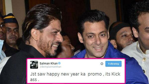 Salman Khan praises Shah Rukh Khan's Happy New Year trailer!