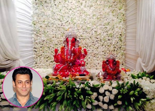 Salman khan 39 s ganpati to have eco friendly immersion today for Artificial flower decoration ideas for ganpati