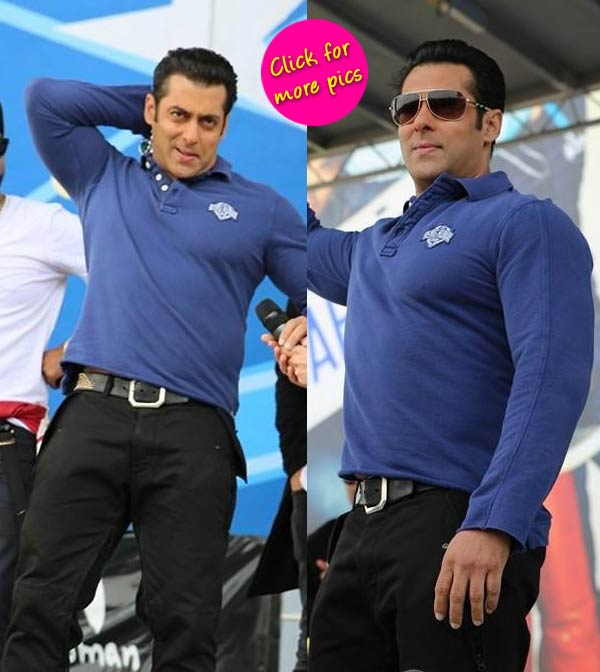 Salman Khan spotted at the music launch of film Dr Cabbie-view pics!